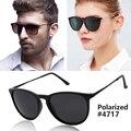 Moda vintage cat eye erika sunglasses hombres mujeres primera marca gafas de sol polarizadas espejo lente 55mm uv400 oculos r-b4171