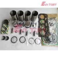 Voor Shibaura N844 N844T N844L N844LT Motor Rebuild Kit Zuiger + Ring Liner Pakking Lager-in Zuigers  ringen  staven en onderdelen van Auto´s & Motoren op
