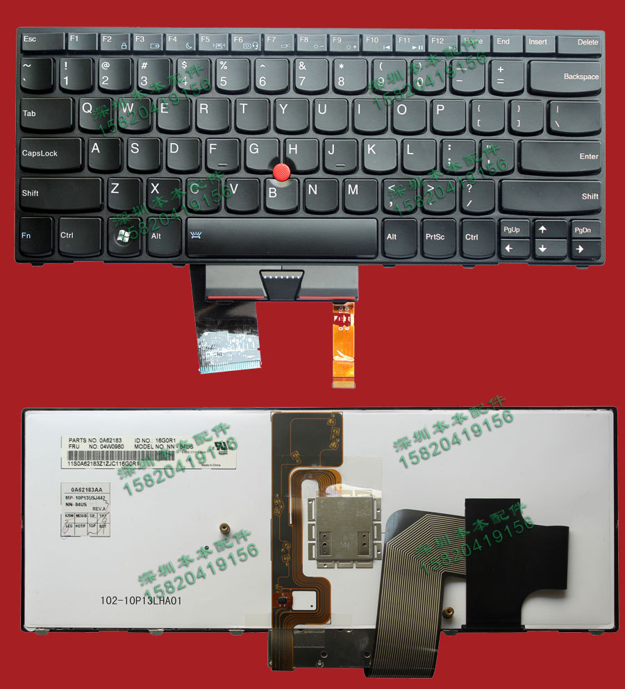 laptop Keyboard For Lenovo ThinkPad X1 Hybrid X1 keyboard 04W0980 Black US Layout With Backlit Original Brand New Top quality new original authentic for lenovo for lenovo for thinkpad e14 e15 e40 e50 laptop keyboard