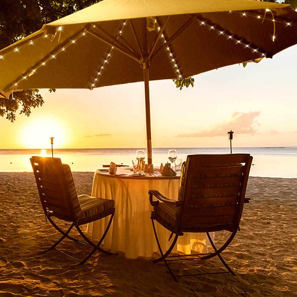 104 светодиодный 8 струн зонтик для патио светодиодный светильник с RC открытый сад Свадебная вечеринка Декор MAL999