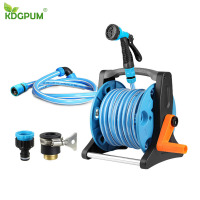 10/20/30M Hose Anti UV Garden Hose Reels Hose Storage Rack Six Patterns Water Gun 1/2'' Quick Connection Garden Irrigation Kits