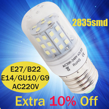 LED Corn Bulb E27 E14 B22 24leds 42leds bulb AC 220V 240V SMD 2835 Bombillas