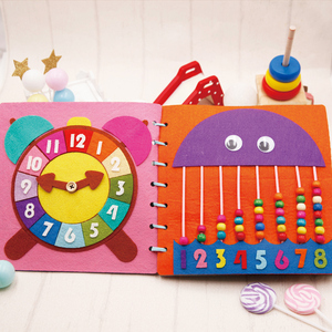 Image 3 - Mom Handmade My First Book 20X20CM Soft Felt Cloth Quiet Book Toys For Kids Early Learning Educational Felt Material DIY Package
