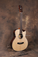 (With video) High End 38 Inch guitar With Solid Spruce top /Rosewood Body,Half cutaway Body,JD-M318SC