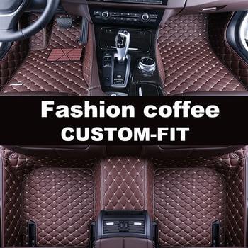 Car floor mat fit Left or right hand drive fit Hyundai I30 IX30 IX35 Elantra Santa Fe Sonata Tucson Accent Coupe 5D car-styling