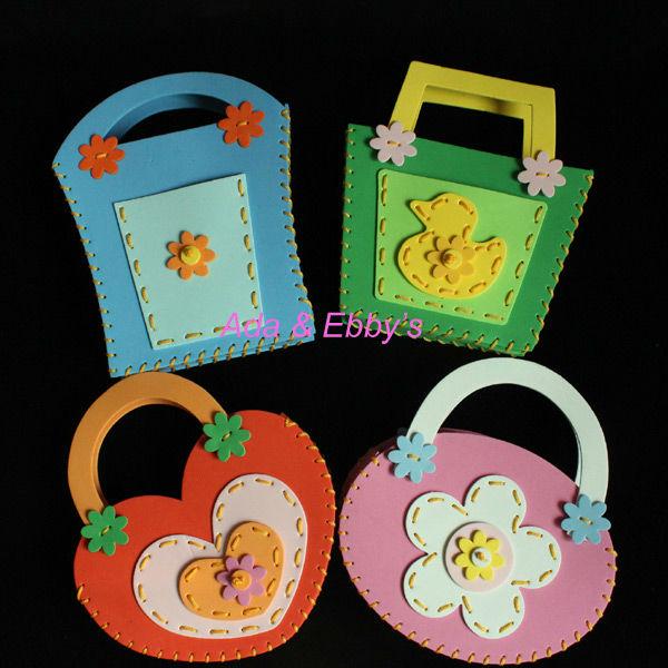 Us 42 43 Free Shipping Eva Diy Cartoon Kids Handbag Children Shopping Bag Handmade Craft Kits Educational Toys Birthday Gift 4 Designs In Puzzles