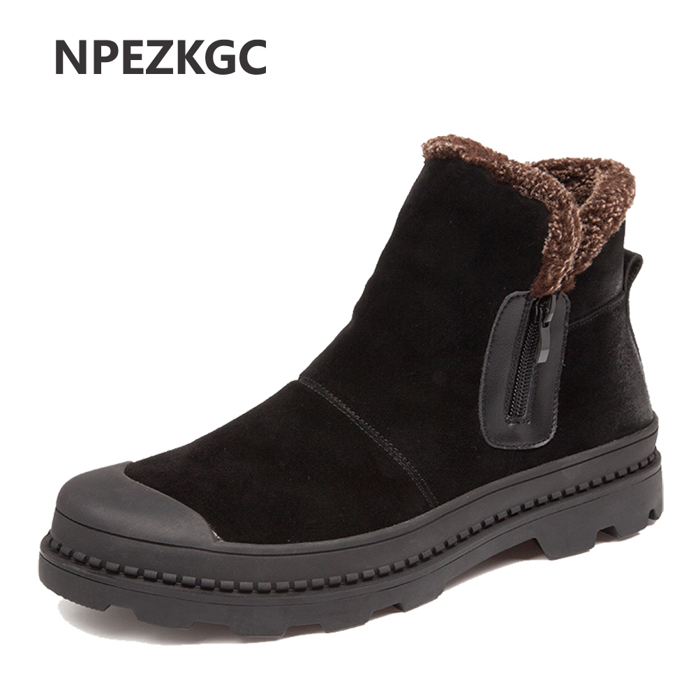 Super Warm Men Winter Boots for Men Warm Ankle Boots Shoes 2018 New Men's Ankle Snow Boot Botas Masculina bota цена