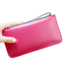 SUONAYI Hot Sale Women Lady Long Wallets Purse Female Candy Color PU Leather Carteira Feminina for Coin Card Clutch Bag цена в Москве и Питере