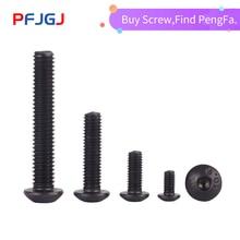 Peng Fa ISO7380 black button head screw M2 M2.5 M3 M4 M5 M6 M8 Hexagon Socket round Screws Hex Screw