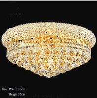 Phube Освещение империи Золотой Кристалл Потолочный светильник Роскошные K9 кристалл потолочный светильник Освещение блеск Бесплатная доста