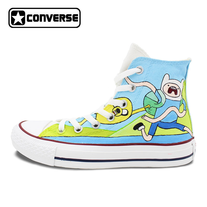 Sneakers Converse All Star Men Women Shoes Adventure Time Custom Design Hand Painted Shoes High Top Canvas Sneakers mens converse shoes custom hand painted hunger game high top black canvas sneakers unique presents