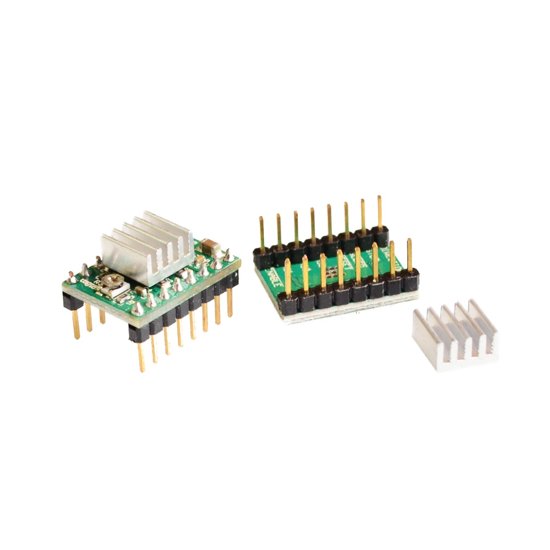 100 unids/lote Reprap controlador paso a paso A4988 módulo controlador de Motor paso a paso con disipador de calor Dropshipping