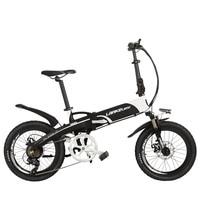 G660 Elite 500W Mountain Bike 20'' Folding Electric Bicycle 48V 10Ah Lithium Battery 5 Grade Assist Double Disc Brake