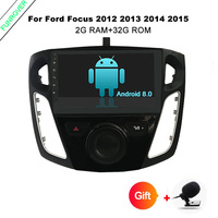 Funrover 2GB+32GB 9 inch android 8.0 car dvd player gps navigation for FFord Focus 3 2012 2013 2014 2015 with Wifi GPS Quad core