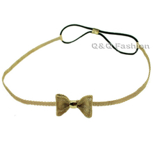 Bowtie Bowknot Bow Tie Knot Mesh Snake Chain Hair Crown Head Dress Piece Band Jewelry  2017 New