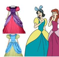 Cinderella Anastasia Drizella Cosplay Costume Fancy Halloween Costumes for Adult Cinderella Sisters Dress