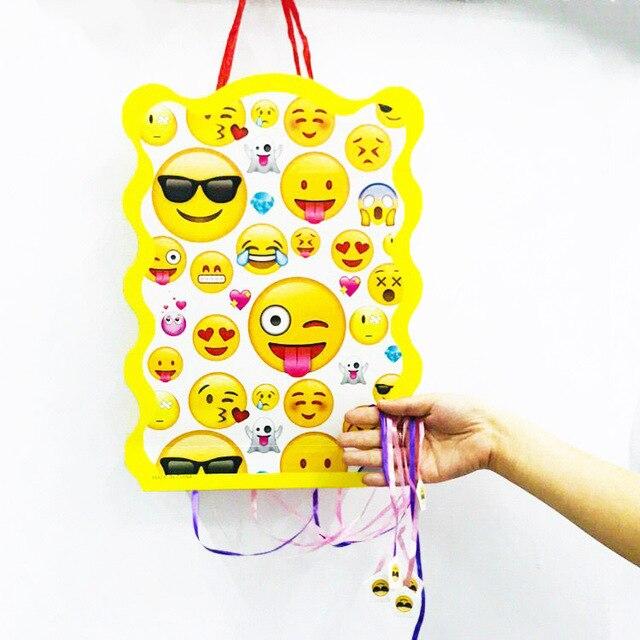 1pc Set Cartoon Smile Face Emoji Folding Pinata Kids Birthday Party Game Decoration Funny Boys