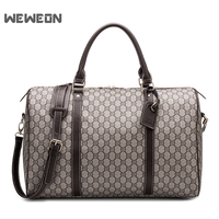 Designer Classic Men Sports Travel Bags PU Printing Gym Bags British Retro Leather Fitness Handbag Luggage Bag sac sport bolsa