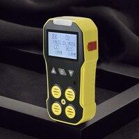 Портативный воздуха анализатора горючих Угарный газ CO кислорода O2 H2S детектор утечки газа Профессиональный токсичных вредных газов монито