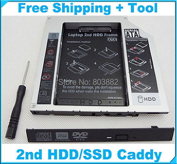 NEW SATA 2nd hard drive HDD Caddy Adapter For DELL INSPIRON 3520-in
