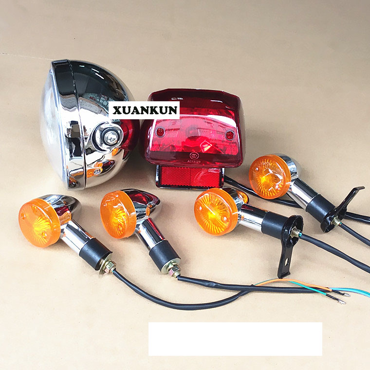 Motorcycle Retro Lamp GN125 New Headlamp Turning Light Taillight