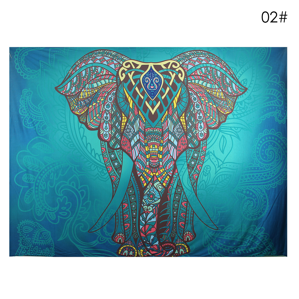 Elephant Mandala Tapestry Throw Towel Hippie Tapestry Floral Printed Home Decor Wall Tapestries Bedspread 210*150CM 8