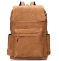 2017 Мужской модный рюкзак мужской рюкзак для путешествий mochilas школьная сумка из натуральной кожи деловая сумка большая сумка для ноутбука