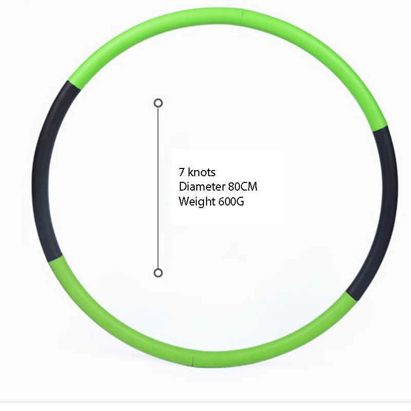 Removable Weight Loss Hard Tube Circle Exercise Equipment Waist Slimming Fitness Abdominal Massage Ring Yoga Sport Hoops