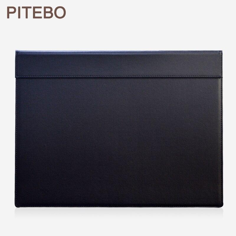 Tablette de bloc-notes d'écriture et de dessin de bureau rectangle A3 de 18x13.5 pouces avec trombone noir