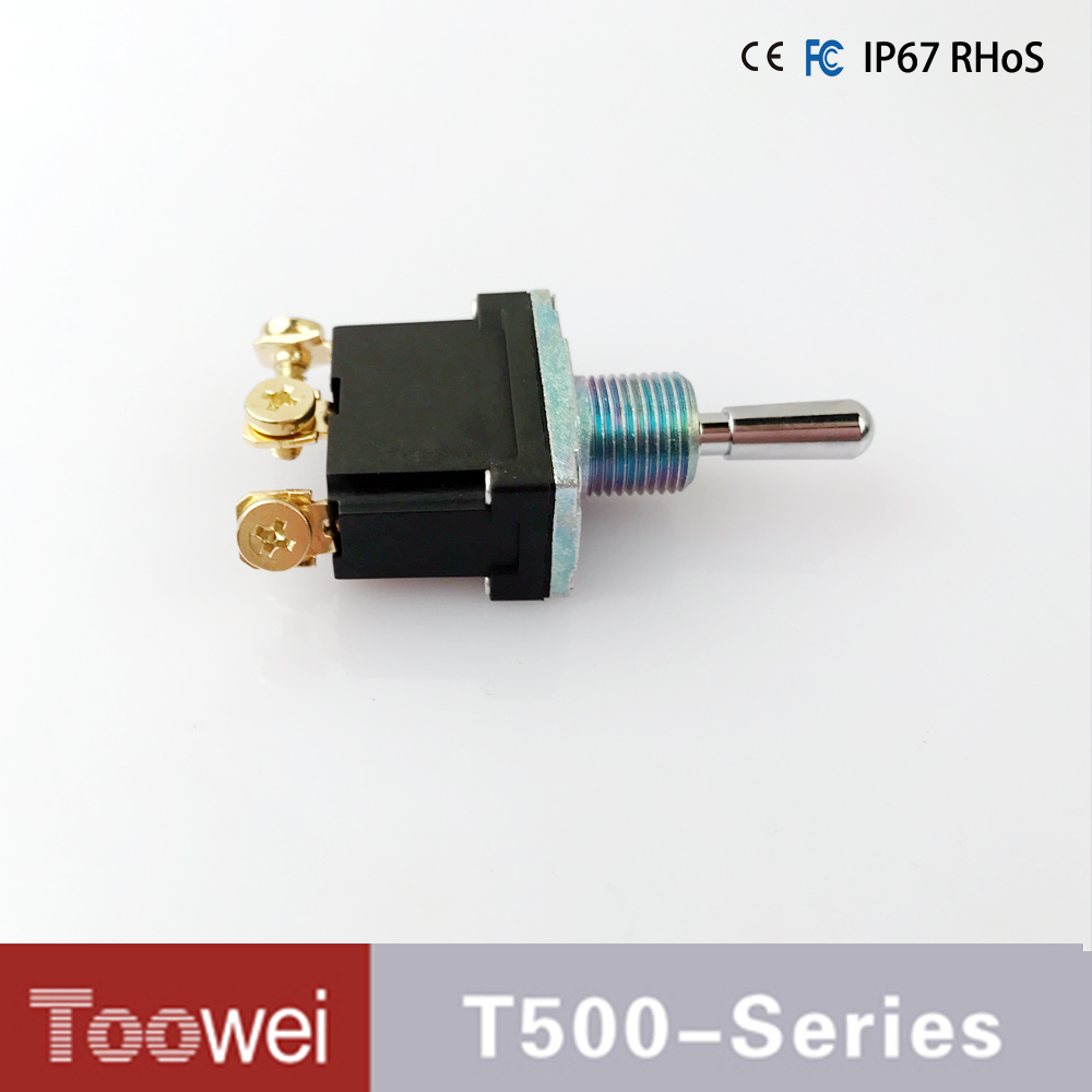 T702mw Toowei 6p On Off Double Momentary Toggle Switchscrew Pole Throw Rocker Switchdoublepoles Waterproof Ip67 T500 Series Screw Terminal Switch 3 Pin Position