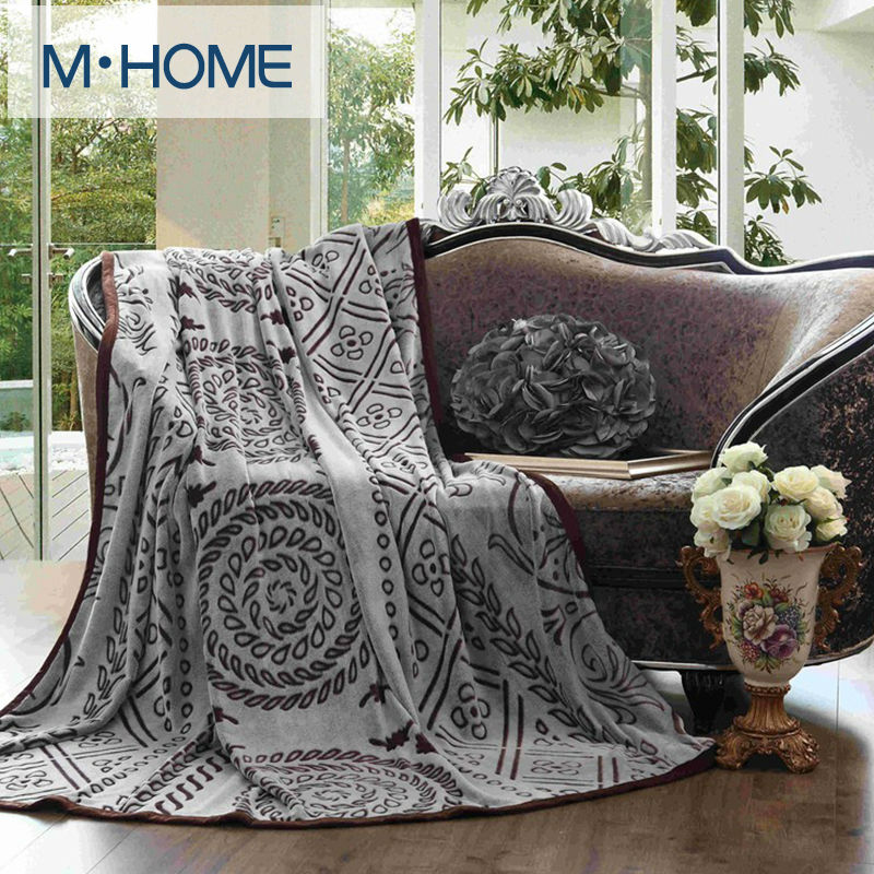 2016 Turkey Cut flowers Blanket Coral Fleece Fabric Hand Wash Spring/Autumn Knitted Classic Blanket  Bedding Sheet For Bedroom