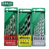 LAOA Nova Chegada Conjuntos bit Trado broca De Metal/Madeira broca/broca Cimento Tamanho 4mm/5mm /6mm // 8mm/10mm Bits