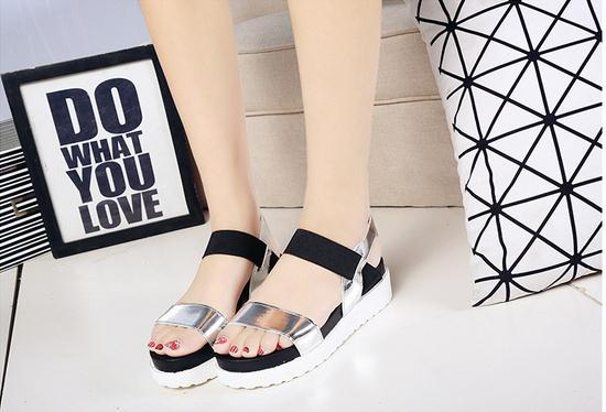 2017 Hot Sale Roman Women sandals Women Summer Shoes Peep-toe Flats Shoes  Mujer Sandalias Ladies Flip Flops Sandal Footwear 2016 new summer peep toe flat platform buckle cross tied genuine leather horse hair women sandals flip flops mujer sandalias
