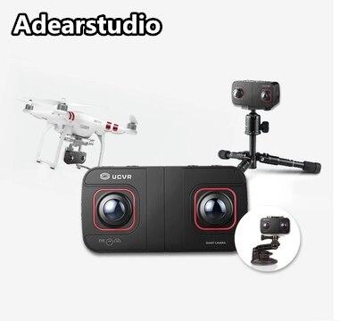 UCVR EYE Hot selling 360 panoramic camera 360 degrees sport camera VR 4K outdoor VR 4K 3 ...