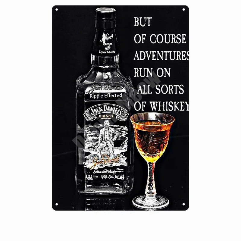 Jack Wine Whiskey Vintage Metal Tin Sign Pub Bar Casino Home Decor Beer Advertising Plate Painting Poster Wall Art Sticker N277 in Plaques Signs from Home Garden