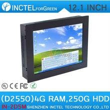 12 дюймов Сенсорный Экран Мини PC Компьютер Все В ОДНОМ PC Пять провод Gtouch с помощью высокой температуры, ультра-тонкая панель с 4 Г RAM 250 Г HDD