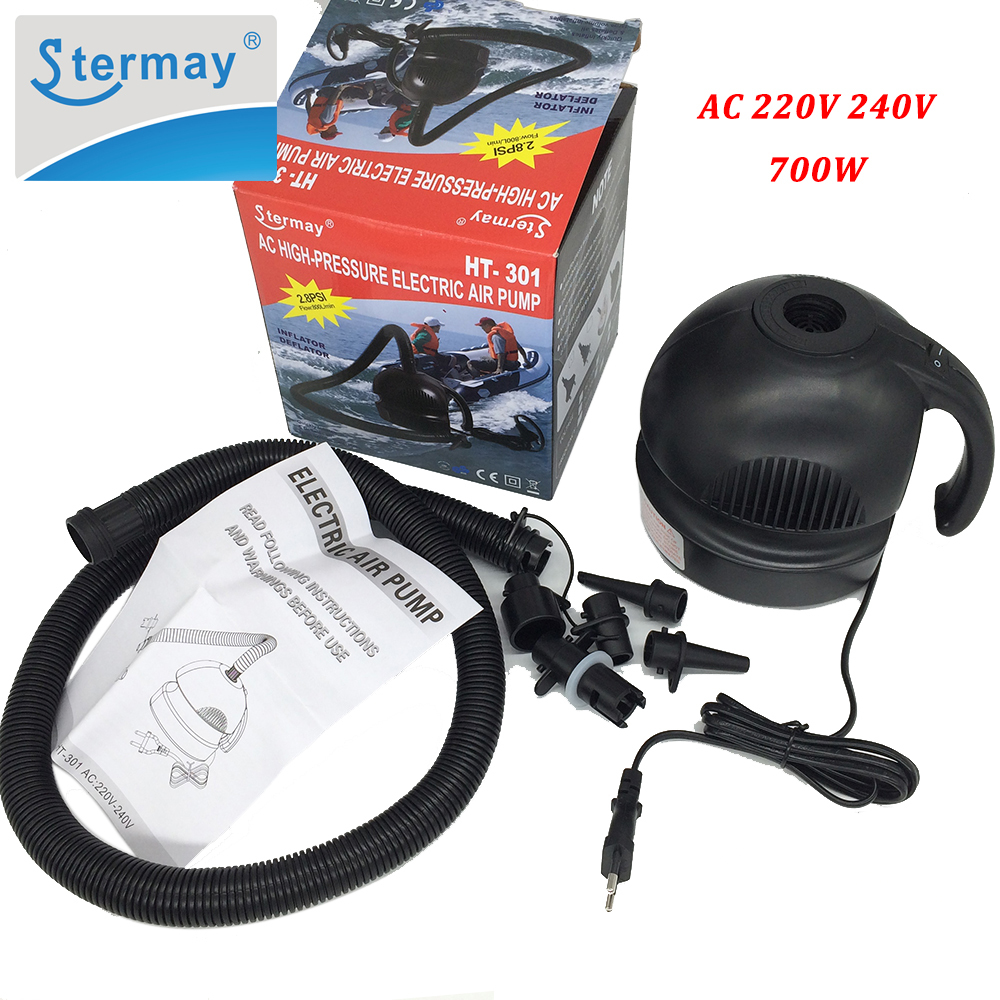 Stermay HT 301 700W High Power Electric Air Pump for Inflatable Boat Swimming Pool Bed Mattress