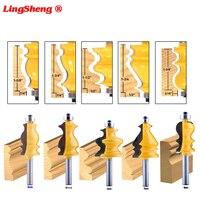 cnc חותך 5PC 8mm Shank מארז & Base נתב דפוס Bit Set CNC Line סכין נגרות חותך שֶׁגֶם קאטר כלים לעיבוד עץ (1)