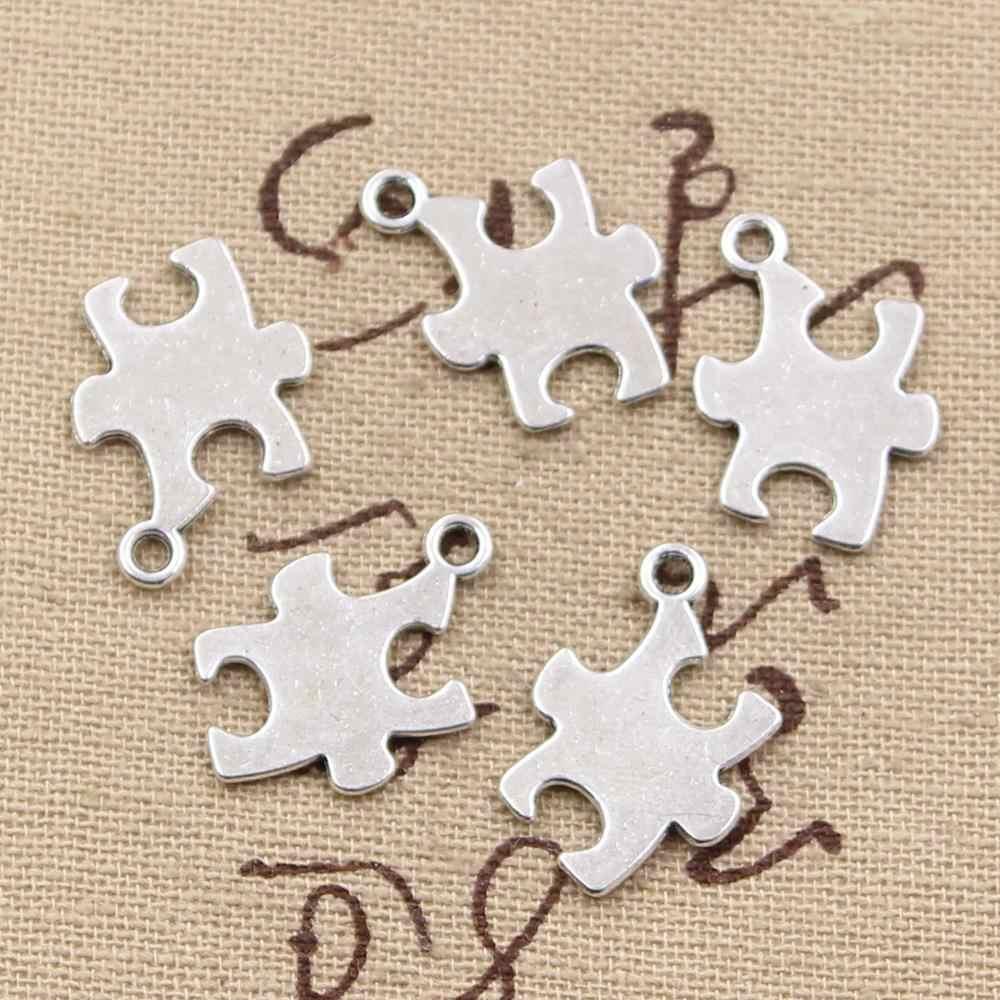 30 шт. талисманы головоломки осознание аутизма 20x14 мм античный посеребренные Подвески Решений DIY тибетское серебро ручной работы ювелирные изделия