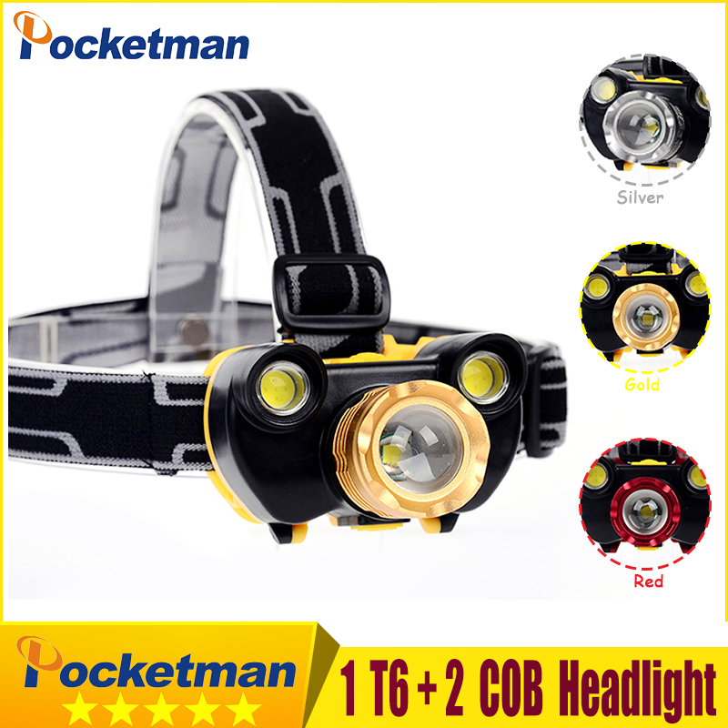 12000lm rechargeable led headlamp CREE XM-L T6 + 2*COB flashlight torch cree xml t6 head lamp waterproof lights headlight z50 sitemap 32 xml