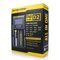 D2 Nitecore Cargador Inteligente Digi con Monitor LCD para Li-ion Baterías Recargables de Ni-MH y Ni-cd