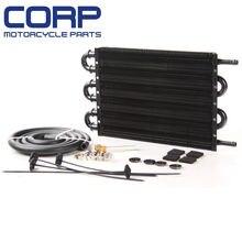 В/mt радиатора удаленного алюминий черный маслоохладитель коробки передач + шланг/монтажный комплект