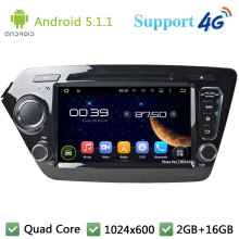 Quad Core 8″ 1024*600 2DIN Android 5.1.1 Car DVD Video Player Radio USB BT FM DAB+ 3G/4G WIFI GPS Map For KIA K2 RIO 2010-2014