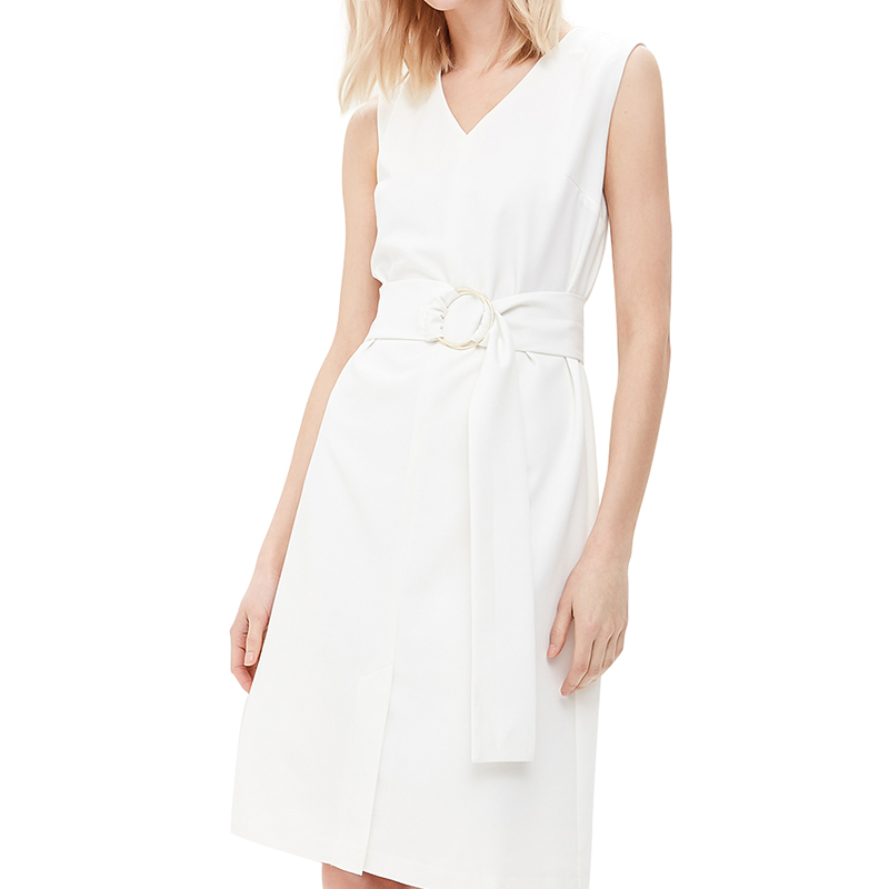 Dresses MODIS M181W00432 women dress cotton  clothes apparel casual for female TmallFS stylish spaghetti strap hollow out white dress for women