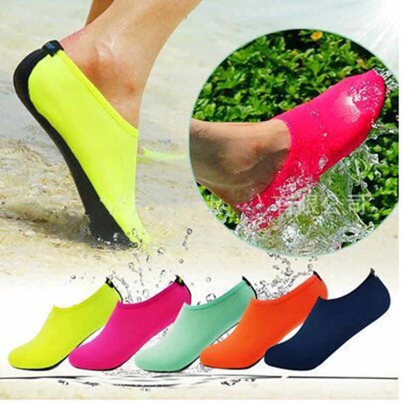 JACKSHIBO Zomer Mannen Slipony Water Schoenen Sandalias Slip Op Slippers voor Strand Waterpark Sandalen Aqua Chaussure Homme Big Size