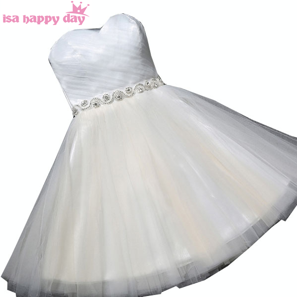 corset back off shoulder strapless ivory bridesmaid short dress brides maid dresses ball gowns under 100 for weddings H3930