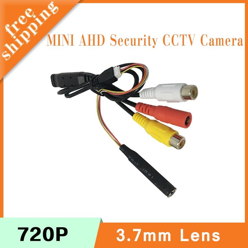 Audio 3.7mm Lens Mini CMOS Infrared Night Vision 1mp 720P 2mp 1080P AHD CCTV Surveillance CCTV Security Camera Free Shipping 1 3mp ahd 1200tvl mini night vision surveillance camera 1 3 cmos 6mm lens cctv 960p camera module osd cable