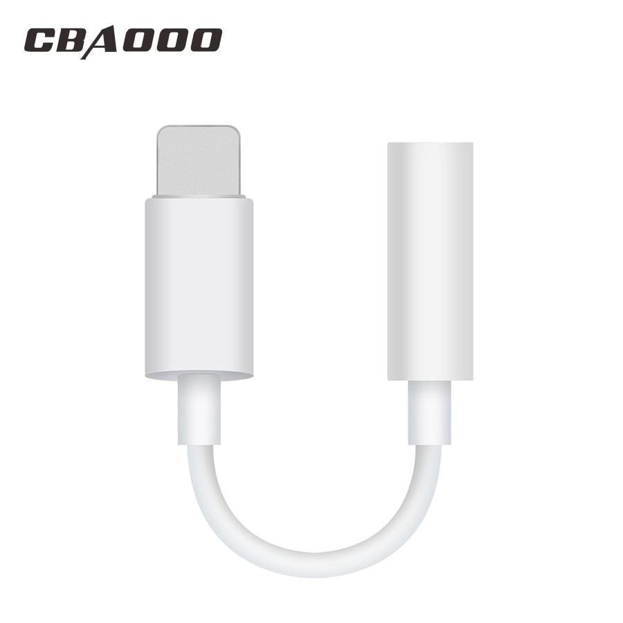 3.5mm Jack Headphone Audio Adapter Cable For IPhone 6 7 8 X XR XS Aux Converter For Lightning Music Earphone OTG Jack Splitter