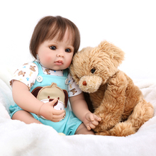2019 new Silicone Reborn Baby Doll kids Playmate bebe gift reborn menina 50cm For children Alive Soft plush toy paly house