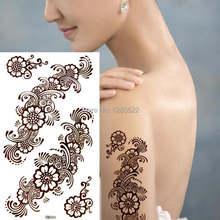1 шт. Индия хна, Временная татуировки боди-арт татуагем висорария для женщин Красота